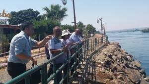 DSİ Fırat Nehrinde İncelemelerde Bulundu