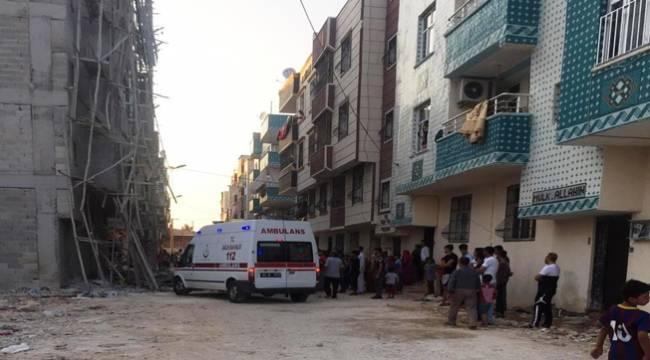Eyyübiye'de İnşaat İskelesi Çöktü 5 Yaralı