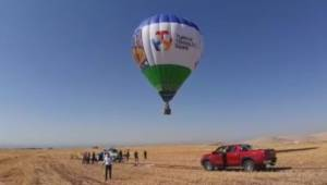 Göbeklitepe'de sıcak hava balonu havalandı