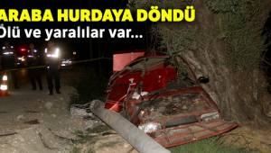 Muğla'da otomobil elektrik direğine çarptı 2 kişi öldü