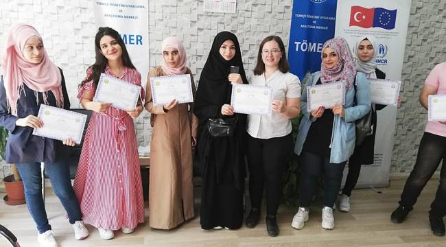 TÖMER'den 120 YTB Öğrencisine Kurs, Sınav ve Sertifika