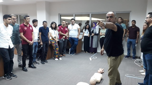 112 Acil Çağrı Merkezi personeline yangın eğitimi