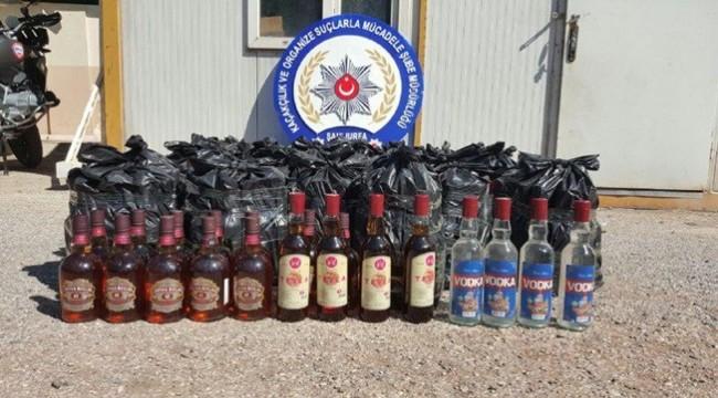 540 Şişe Kaçak İçki Ele Geçirildi