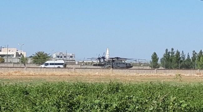 ABD'ye ait 2 helikopter Akçakale'ye Geldi