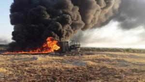 Akaryakıt Tankerinde Yangın