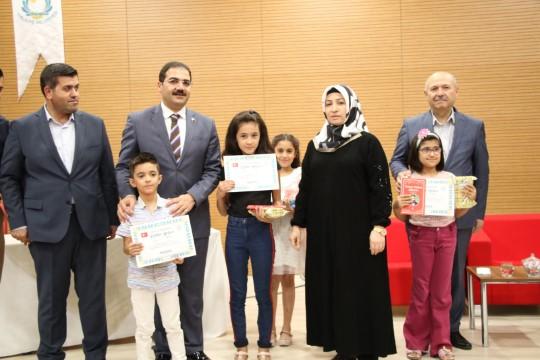 Haliliye'de 'Oku-Yüz' birincileri ödüllendirildi