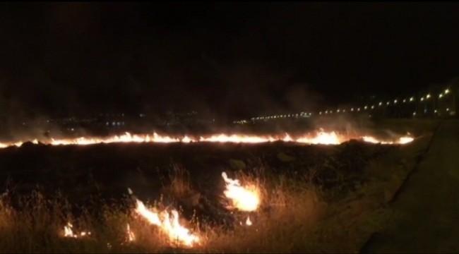 Maşuk Yolunda Yangın Çıktı