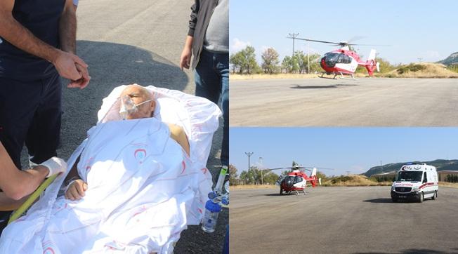 Ambulans helikopter 81 yaşındaki hasta için havalandı