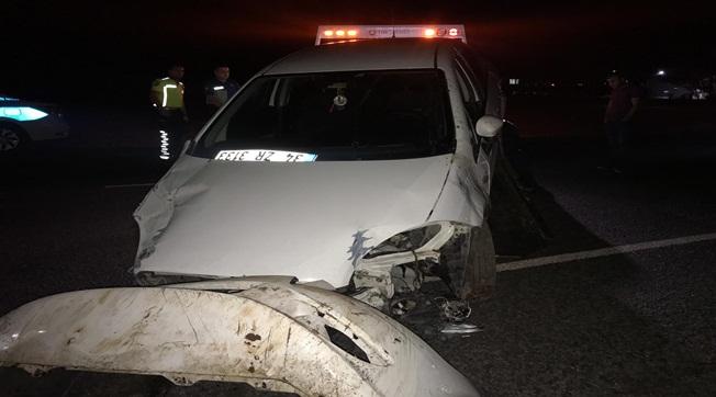 Otomobil At Arabasına Çarptı 2 Ağır Yaralı