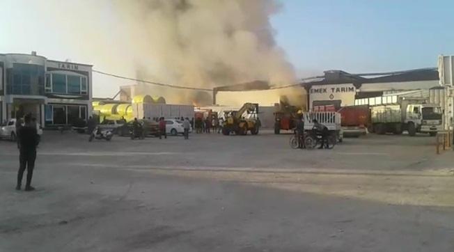 Akçakale'de Çırçır Fabrikasında Yangın