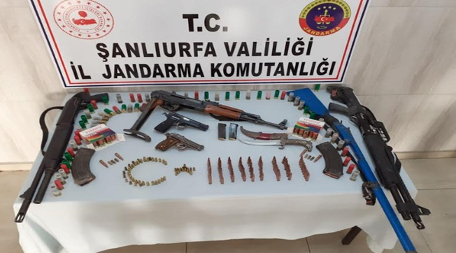 Birecik ve Suruç'ta Silah Kaçakçılarına Operasyon