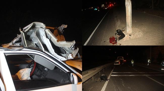 Düğün Dönüşü Kaza 1 Ölü 1 Yaralı