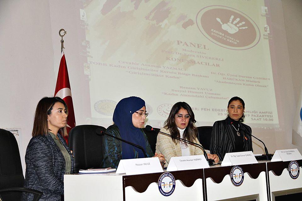 HARÜKAM'dan Kadına Şiddete Birlikte Dur Diyelim Etkinliği