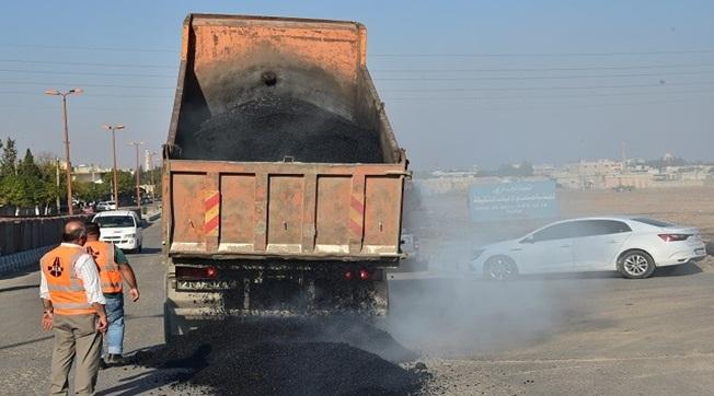 Tel Abyad'ta asfalt serim çalışmaları tamamlandı