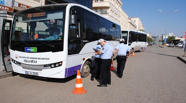 Urfa'da Toplu Taşıma Araçları Denetlendi