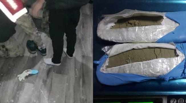 Ayakkabı Tabanlığında Sakladığı Esrarı Çiko Buldu
