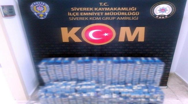 Siverek'te 4500 Paket Kaçak Sigara Ele Geçirildi