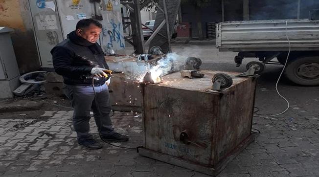 Suruç'ta 300 Çöp Konteynırı Onarıldı