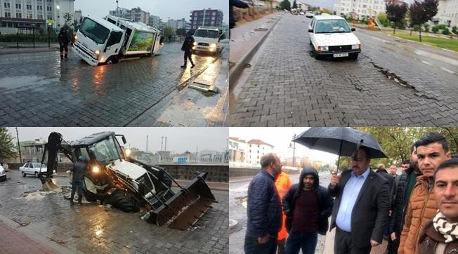 Viranşehir'de Cadde ve Sokaklar Çöktü