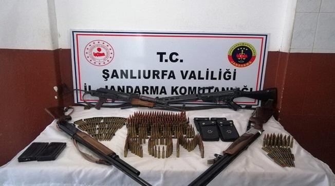Viranşehir'de Uzun Namlulu Silahlar Ele Geçirildi 5 Gözaltı
