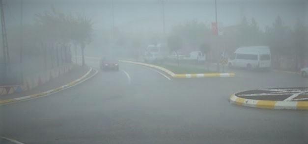 Şanlıurfa'da yoğun sis sürücüleri zorluyor