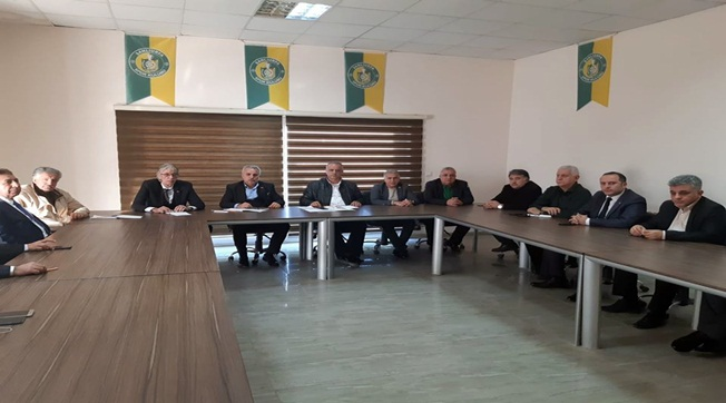 Urfaspor'un Yeni Yönetimi Görev Bölümü Yaptı