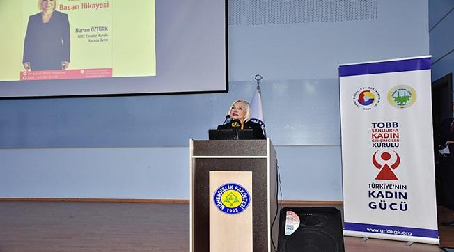 Nurten Öztürk Harran Üniversitesinde Konferans Gerçekleştirdi