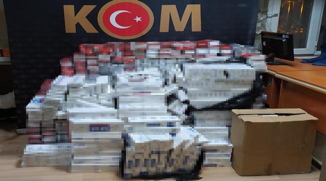 Sırrın Girişinde 10 Bin Paket Kaçak Sigara Yakalandı