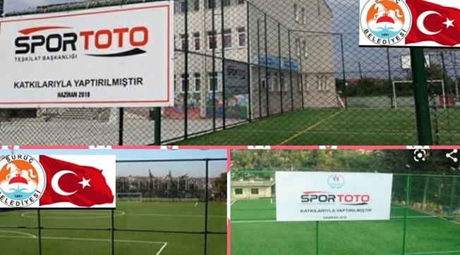 Spor Toto'dan Suruç'a Halı Saha Desteği