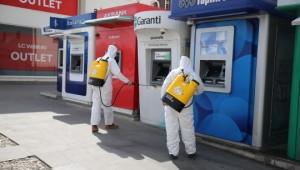 ATM'ler dezenfekte ediliyor