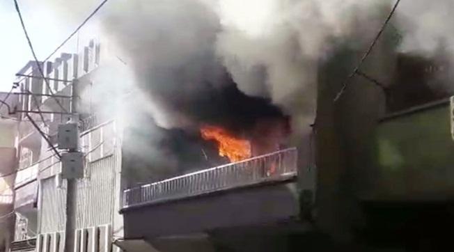 Devteştinde Bir Evde Yangın Çıktı