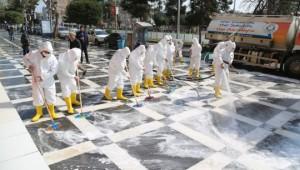 Haliliye'de dezenfekte çalışmaları