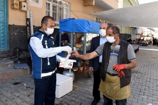 Ceylanpınar'da semt pazarlarında korona virüs tedbirleri