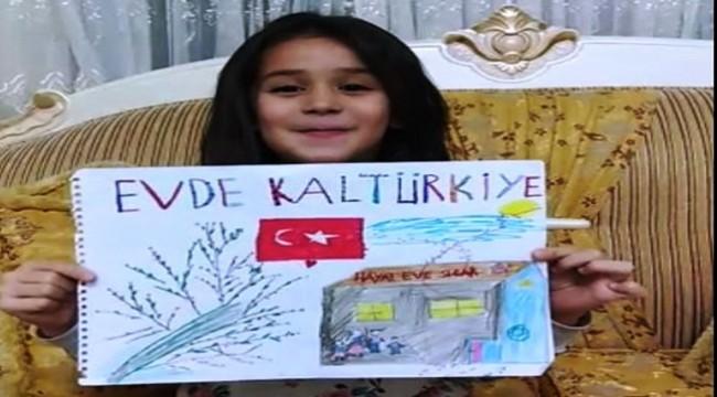 Suruç Cumhuriyet İlkokulu öğrencilerinden Evde Kal Çağrısı