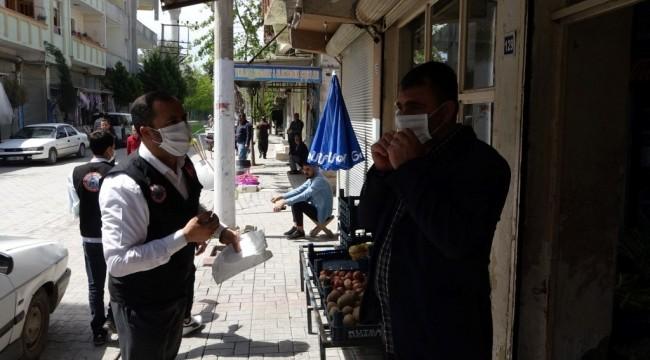 Suruç'ta korona virüse karşı önlem devam ediyor