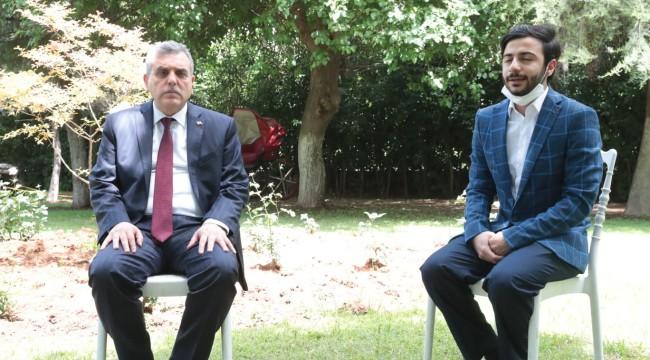 Beyazgül,Türkiye birincisi Eyyüp Ensar Kılıç'ı tebrik etti