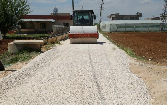 Eyyübiye kırsalında yol yapım çalışmaları