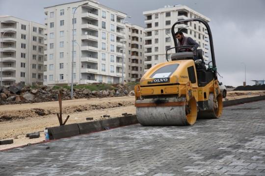 Karaköprü'de yol çalışmaları