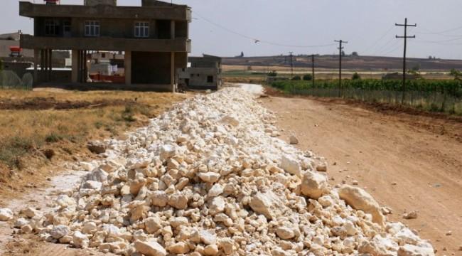 Akçakale - Suruç çevre yolu stabilize çalışmaları başladı