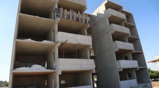 Eyyübiye'de kentsel dönüşümde binalara başlandı (VİDEO)