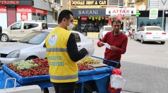 Haliliye'de 585 bin kişiye maske dağıtıldı (video)