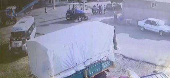 Helezonun altında kalan talihsiz adam hayatını kaybetti (Video)