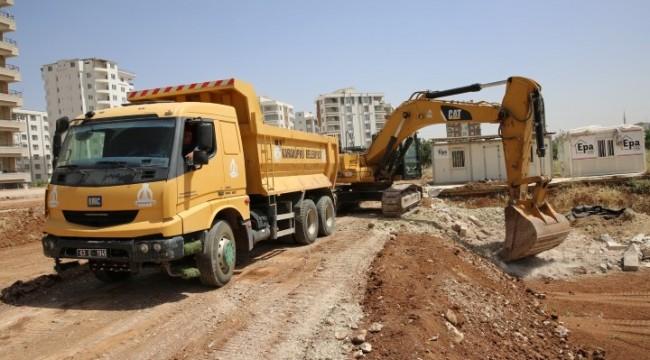 Karaköprü'ye yeni yollar kazandırılıyor (video)