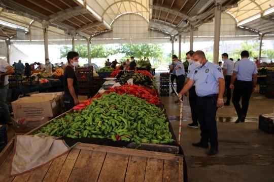 Haliliye zabıtasından pazar yeri denetimleri (Videolu Haber)
