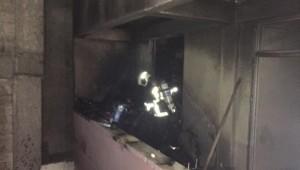 Yangına müdahale eden itfaiyeciler büyük tehlike atlattı (Videolu Haber)