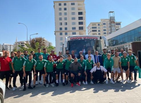 Karaköprü Belediyespor, Bursa'ya uçtu