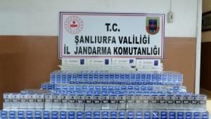 Şanlıurfa'da 3 kamyonda 2 bin 400 paket kaçak sigara ele geçirildi