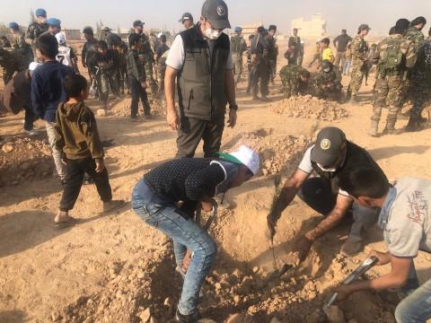 Suriye'nin Telebyad şehrinde fidan dikim töreni düzenlendi