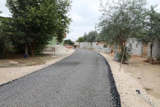 Harran'da köy içi asfalt çalışmaları dur durak bilmiyor