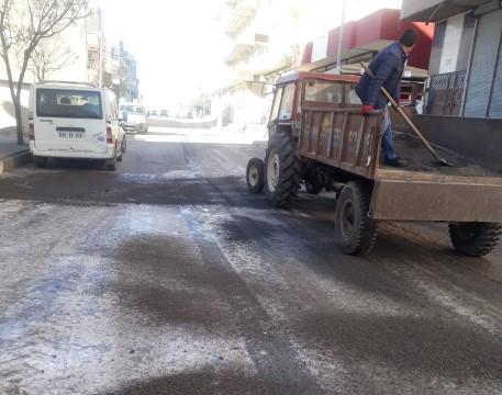 Viranşehir Belediyesinden tuzlama çalışması